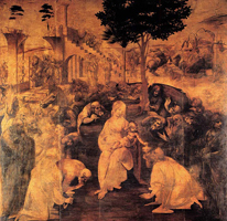 Поклонение волхвов (Леонардо да Винчи. 1481)