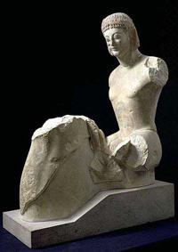 Всадник Рампина (Мрамор. Середина 6 в. до н.э. Музей Акрополя. Афины)