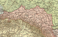 Карта Галиции, 1914 г.