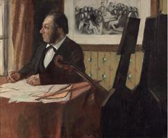 Виолончелист Пиле (Э. Дега, 1868-1869 гг.)
