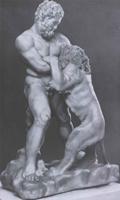 Лисипп. Геракл со львом. II п. IV в. до н.э. Мраморная римская копия с бронзового оригинала. Санкт-Петербург, Эрмитаж