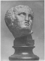 Скопас. Голова раненого воина с западного фронтона храма Афины Алеи в Тегее. Мрамор. I п. IV в. до н.э. Афины. Национальный музей