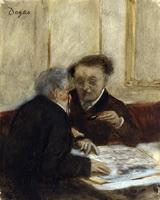 В кафе Шатоден (Э. Дега, 1869-1871 гг.)