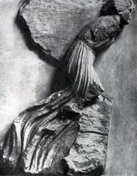 Возничий (Скопас. Фрагмент фриза Галикарнасского Мавзолея. Около 350 г. до н.э. Лондон. Британский музей)