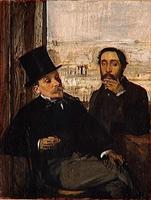 Автопортрет с другом (Э. Дега, ок. 1865 г.)