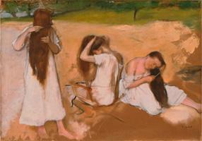 Женщины, расчесывающие волосы (Э. Дега, 1875-1876 гг.)