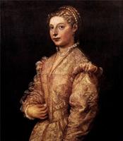 Портрет девушки (Тициан. 1545 г.)