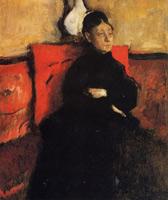 Герцогиня де Монтежаси-Сисераль (Э. Дега, ок. 1868 г.)