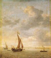 Парусники на море в ветренный день (Я. Порселлис)