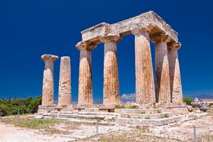 Храм Аполлона. Коринф (550 г до н.э.)
