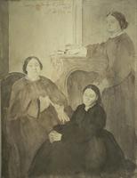 Мадам Мишель Муссон и её дочери (Э. Дега)