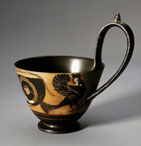 Сфинкс (Киаф. Чернофигурная роспись. Предположительно Псиакс. 520-е гг. до н.э.)