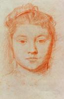 Портрет женщины (Э. Дега, ок. 1866 г.)