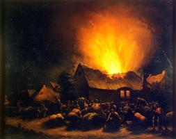 Пожар в деревне (Эгберт Ливенс ван дер Пул)