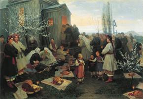 Пасхальная заутреня в Малороссии. Пимоненко Н.К. 1891 г.