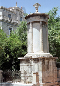 Памятник Лисикрата. 335 г. до н.э. Греция, Афины