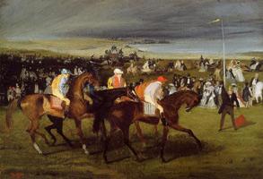 На скачках. Старт (Э. Дега, 1861-1862 гг.)