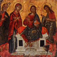 Деисус со св. апостолом Андреем. Греция, XVII в.