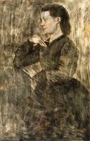 Портрет женщины (Э. Дега, 1873 г.)