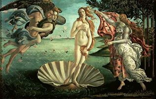 Рождение Венеры. Боттичелли 1485