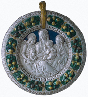 Мадонна с младенцем и ангелами (Джованни делла Роббиа, начало 16 в