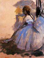 Сидящая танцовщица (Этюд, Э. Дега, 1872 г.)