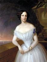 Портрет фрейлины (Г.И. Яковлев, 1854 г.)