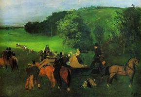 На скачках (Э. Дега, ок. 1860 г.)