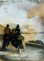 Два всадника на озере (Э. Дега, ок. 1861 г.)