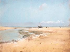 Пляж, отлив (Устье реки) (Э. Дега, 1869 г.)
