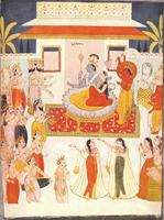 Вайкутана. Рай Вишну (Раджастанская школа около 1750 г.)