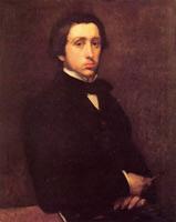 Автопортрет (Э. Дега, 1855 г.)