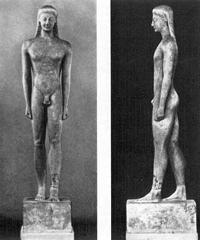 Курос с острова Мелос. Середина VI в. до н.э. Афины, Национальный музей