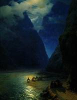 Дарьяльское ущелье (И.К. Айвазовский, 1862 г.)