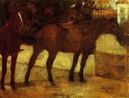 Этюд лошадей (Э. Дега, 1873-1878 гг.)