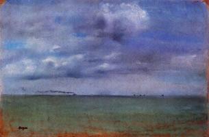Морской пейзаж (Э. Дега, ок. 1869 г.)