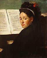 Мадемуазель Дихо за пианино (Э. Дега)