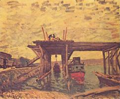 Мост в Бо (Альфред Сислей)