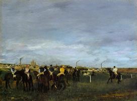 Перед скачками (Э. Дега, 1871-1872 гг.)