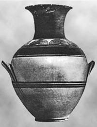 Ваза с протогеометрическим орнаментом. X в. до н.э.