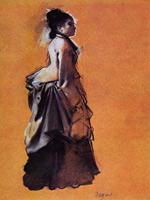 Девушка в выходном платье (Э. Дега, 1872 г.)