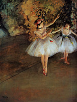Две танцовщицы на сцене (Э. Дега, ок. 1874 г.)