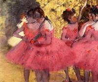 Красные танцовщицы (Э. Дега, 1884 г.)