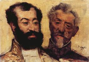 Генерал Меллине и главный раввин Астрюк (Э. Дега, 1871 г.)