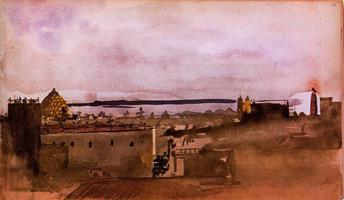 Вид Неаполя (Э. Дега, 1860 г.)