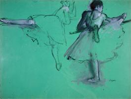 Танцовщицы упражняющиеся на барре (этюд) (Э. Дега, 1873-1878 гг.)