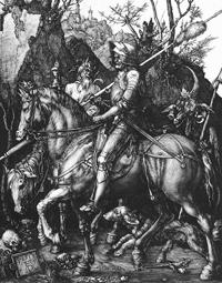 Рыцарь, смерть и дьявол (А.Дюрер. 1513 г.)