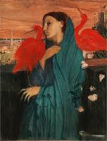 Молодая женщина и ибисы (Э. Дега)