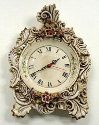 Настольные часы (Фарфор Каподимонте)