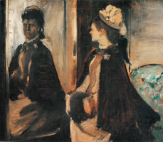 Мадам Жантод перед зеркалом (Э. Дега, ок. 1875 г.)